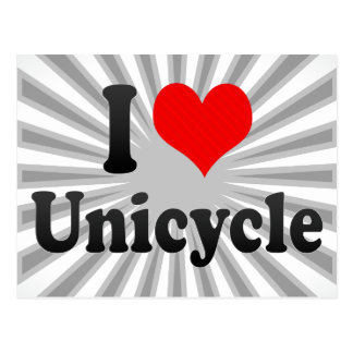 I love Unicycle Post Cards