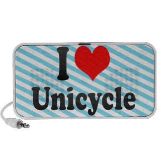I love Unicycle iPhone Speaker