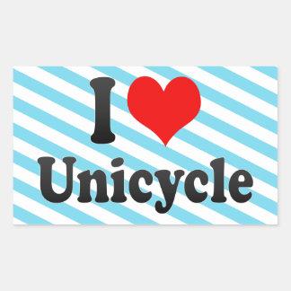 I love Unicycle Rectangle Sticker
