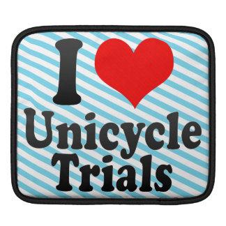 I love Unicycle Trials iPad Sleeves