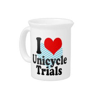 I love Unicycle Trials Beverage Pitcher