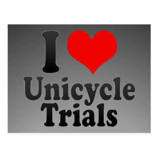 I love Unicycle Trials Postcards