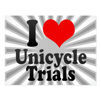 I love Unicycle Trials Post Card