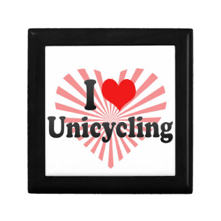 I love Unicycling Trinket Boxes