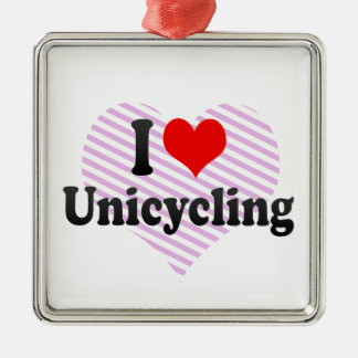 I love Unicycling Christmas Ornaments