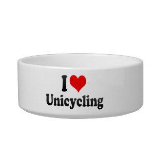 I love Unicycling Cat Food Bowl