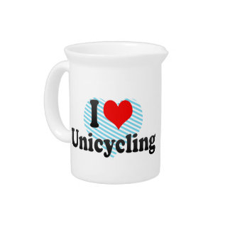 I love Unicycling Drink Pitcher