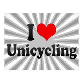 I love Unicycling Postcard