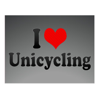 I love Unicycling Post Card