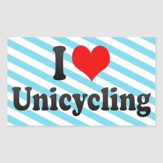 I love Unicycling Stickers