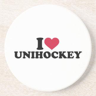 I love Unihockey Drink Coaster