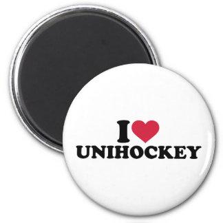 I love Unihockey Refrigerator Magnets