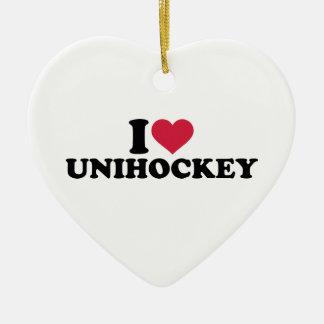 I love Unihockey Christmas Tree Ornament