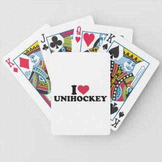I love Unihockey Deck Of Cards