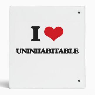 I love Uninhabitable 3 Ring Binder