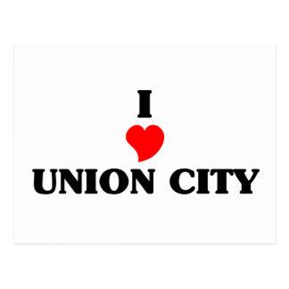 I love Union City Ca Postcard