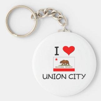 I Love UNION CITY California Keychain