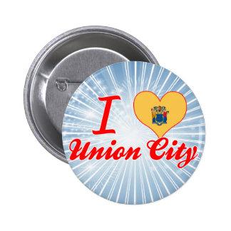 I Love Union City New Jersey Pinback Button