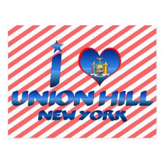 I love Union Hill, New York Postcard