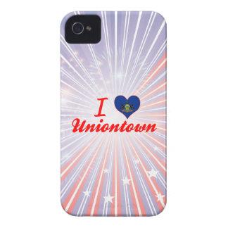 I Love Uniontown, Pennsylvania iPhone 4 Case