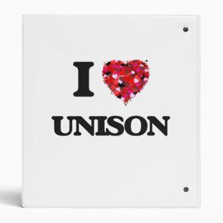I love Unison 3 Ring Binders