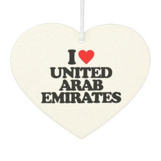 I LOVE UNITED ARAB EMIRATES CAR AIR FRESHENER