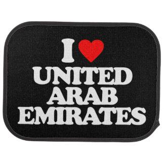 I LOVE UNITED ARAB EMIRATES CAR MAT