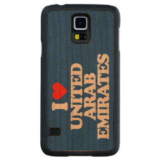 I LOVE UNITED ARAB EMIRATES CARVED CHERRY GALAXY S5 CASE
