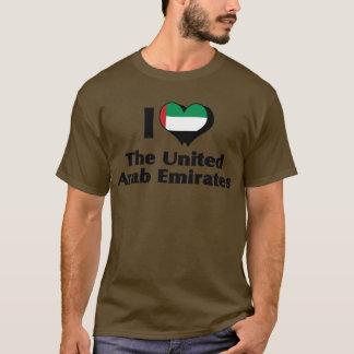 I Love United Arab Emirates Flag Shirt