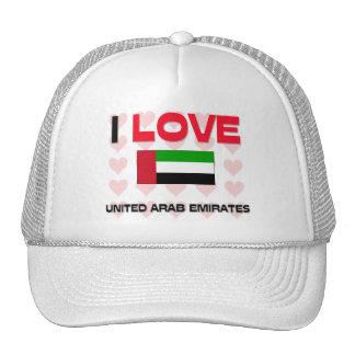 I Love United Arab Emirates Hats