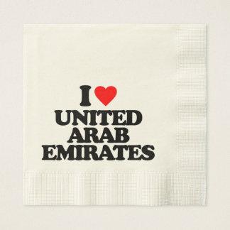 I LOVE UNITED ARAB EMIRATES NAPKIN