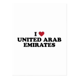 I Love united arab emirates Postcard