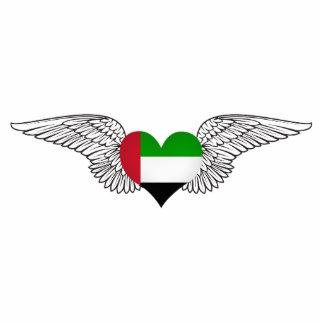 I Love United Arab Emirates -wings Acrylic Cut Out