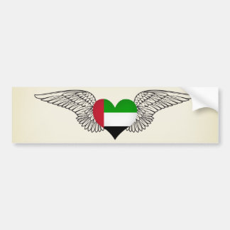I Love United Arab Emirates -wings Bumper Sticker