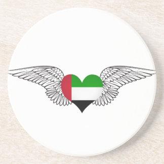 I Love United Arab Emirates -wings Drink Coasters