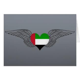I Love United Arab Emirates -wings Greeting Card