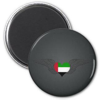 I Love United Arab Emirates -wings Refrigerator Magnet
