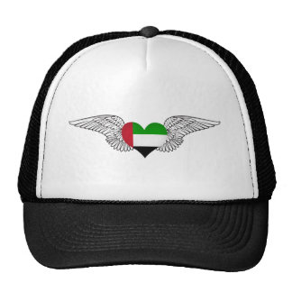 I Love United Arab Emirates -wings Mesh Hat