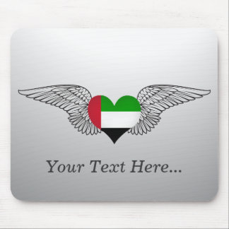 I Love United Arab Emirates -wings Mouse Pads