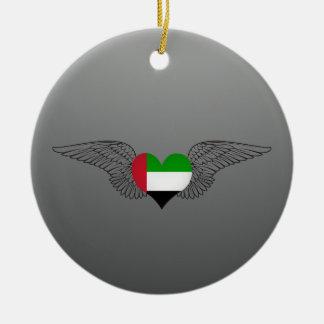I Love United Arab Emirates -wings Christmas Ornaments