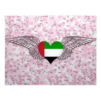 I Love United Arab Emirates -wings Post Card