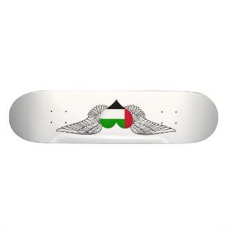 I Love United Arab Emirates -wings Custom Skateboard