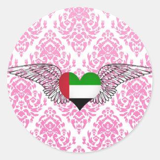 I Love United Arab Emirates -wings Sticker