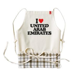 I LOVE UNITED ARAB EMIRATES ZAZZLE HEART APRON