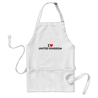 I love United Kingdom country like heart travel to Adult Apron