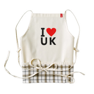 I love United Kingdom country like heart travel to Zazzle HEART Apron