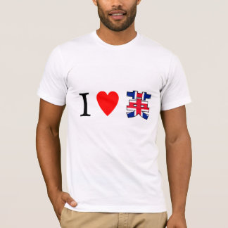 I LOVE United Kingdom of Great Britain and Norther T-Shirt