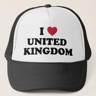 I Love United Kingdom Trucker Hat