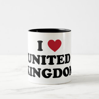 I Love United Kingdom Two-Tone Coffee Mug