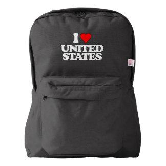 I LOVE UNITED STATES BACKPACK